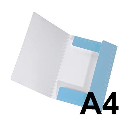 Original Falken Sammelmappe PastellColor. Aus extra starkem Karton mit 3 Klappen und Gummiband für DIN A4 Pastell-Farbe Himmel_Blau Aufbewahrungs-Zeichen-Mappe für die Schule