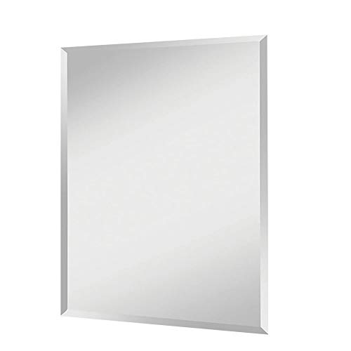 """FANYUSHOW 30"""" x 36"""" Beveled Frameless Explosion-Proof Bathroom Wall Mirror, Suitable for Bathroom,Bedroom,Living Room Wall Decor"""