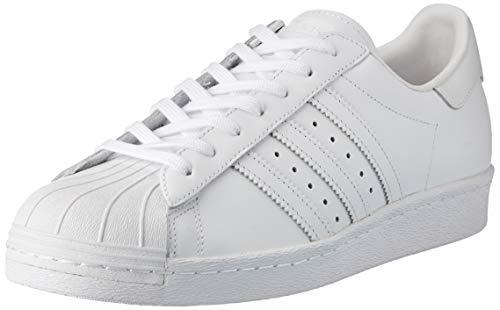 adidas Superstar 80S, Sneaker Uomo, Bianco (Footwear White/Footwear White/Core Black), 45 1/3 EU