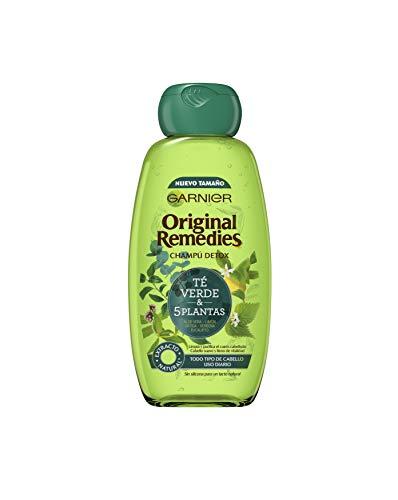 Garnier Original Remedies Shampoo mit grünem Tee und 5 Pflanzen für normales Haar und den täglichen Gebrauch, 300 ml