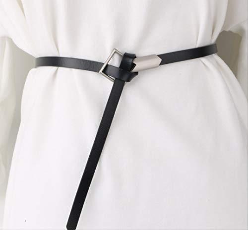 NMSL Cinturón De Piel De Vaca Delgada Cinturón Femenino Falda De Cuero Anudado Accesorios De Moda Vestido Decoración Salvaje Pequeño Cinturón