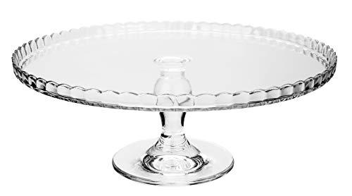 Dajar 74877 Tortenplatte Patisserie, Glas, Transparent, 32 x 32 x 11.5 cm, 1 Einheiten