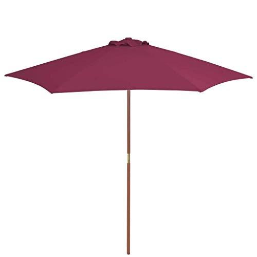 XNJJ Parasol portátil al Aire Libre, Impermeable Durable y Resistente al Viento Jardín Terraza al Aire Libre Paraguas Protector Solar Terraza Balcón Jardín de Mercado de Paraguas (Burdeos Rojo) 8.20