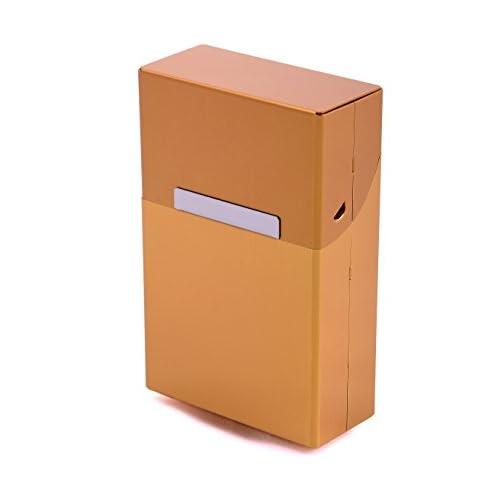 Scatola porta Sigarette Metallo Alluminio Zigarettentui Pacchetto di sigarette Scatola per sigarette - colori multipli selezionabile - Oro