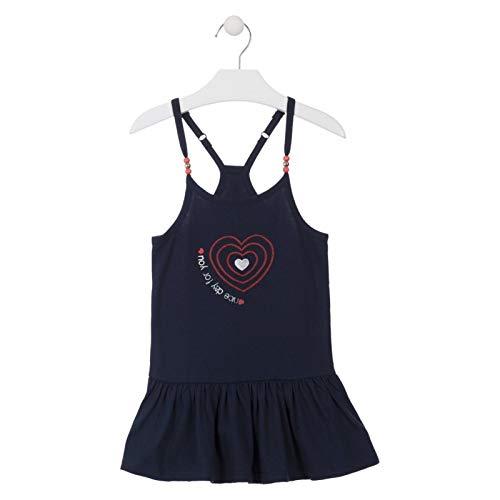 losan Vestido de Punto con Bolitas en los Tirantes para niña 916-7007