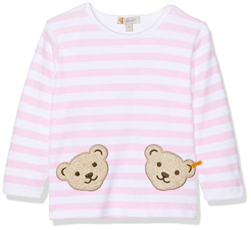 Steiff Collection Steiff Unisex - Baby Sweatshirt, gestreift Doppelbären Shirt 0002891, Gr. 62, rosa (barely pink 2560)