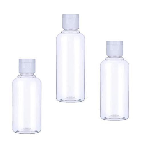 MHXY Transparent 1 stücke Tragbare Leere Flasche 50 ml 60ml 100 ml Kunststoffflaschen für Reise Sub Flaschen Shampoo Kosmetische Lotion Container Glasflasche (Color : Clear, Specifications : 60ml)