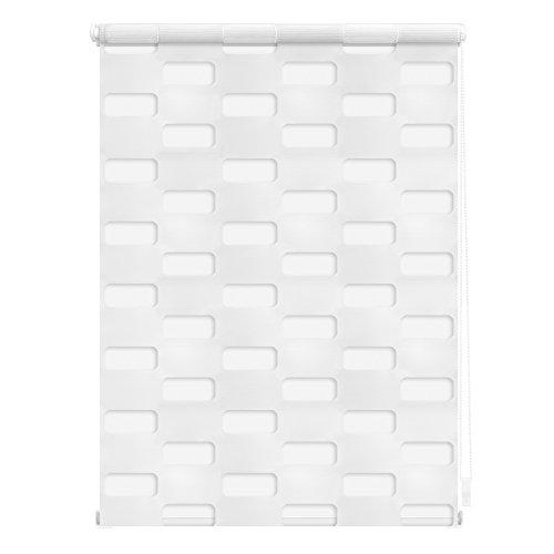 Lichtblick Doppelrollo Arena, 100 x 150 cm in Weiß, Duo Rollo für Fenster & Türen, ohne Bohren, Jalousie & moderner Sicht- und Sonnenschutz