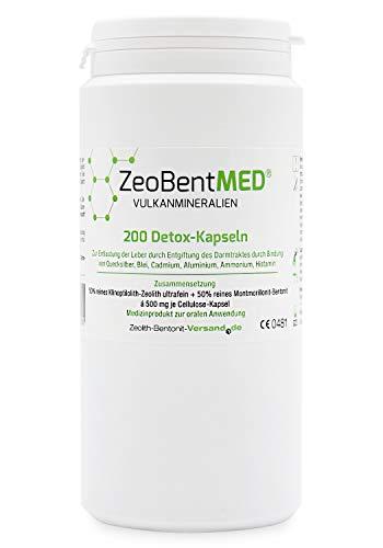 ZeoBent Med 200 Detox-Kapseln, CE zertifiziertes Medizinprodukt