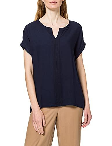 TOM TAILOR Damen 1024042 Basic T-Shirt, 10668-Sky Captain Blue, 3XL