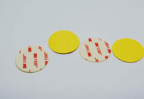 10 X (Durchmesser 50mm) 3M 4950 VHB Doppelseitig adhäsive band dünn extra stark klebepads klettband wasserfest ablösbar Klettverschluss rückständelos Klettpunkte Klebeband Klebestreifen Hochleistung