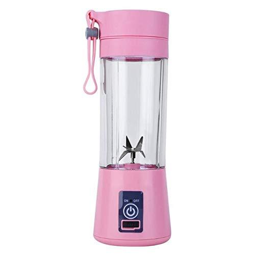 Tragbarer elektrischer Entsafter Mixer a5B Mini Obstmischer Entsafter Fruchtextraktor Lebensmittel Milchshake Multifunktionsmaschine - pink