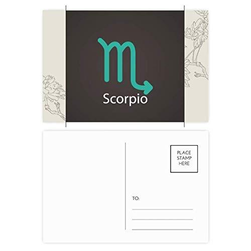 DIYthinker November Oktober Schorpioen sterrenbeeld Bloem Postkaart Set Thanks Card Mailing Side 20 stks 5.7 inch x 3.8 inch Multi kleuren