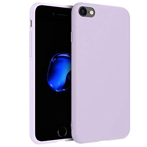 EasyAcc Hülle Kompatibel mit iPhone SE 2020/ iPhone 7 / iPhone 8, TPU Handyhülle Matte Oberfläche Handyhülle Schutzhülle Kompatibel mit iPhone 7/8/SE 2020 4.7''- Helles Lila