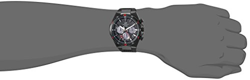 Casio Men's 'Edifice' Quartz Stainless Steel and Resin Casual Watch, Color:Black (Model:...