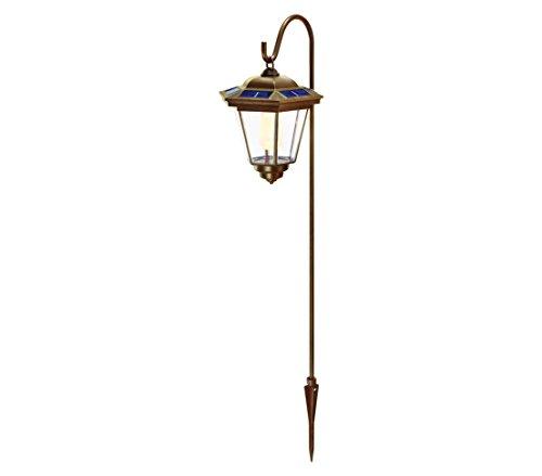 Dehner Tivoli Zonne-lantaarn, met grondpen, lantaarn, ca. 22 x 17 x 17 cm, totale hoogte 85 cm, kunststof/metaal, koper/blauw.