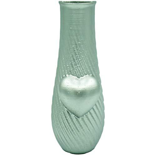 F.G.S FGS Columbarium Vase, Spiral, Herz, silberfarben
