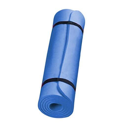 YX58&YU Esterilla antideslizante para yoga, esterilla de ejercicio, 183 x 60 x 0,4 cm, utilizada para ejercicios de piso, gimnasio, yoga, pilates fitness (azul)