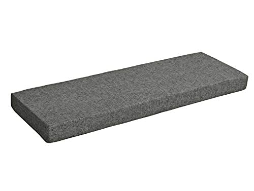 5cm Thicken Bench Cushion with Removable Cover,80/100/120/140/160/180cm No-slip Bench Seat Cushion for Indoor Outdoor Patio Garden Wooden Furniture Sofa (80X45CM,Darkgray)