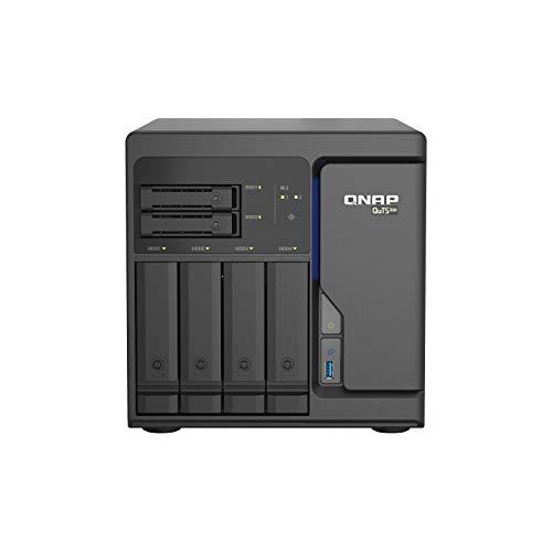 Qnap TS-H686-D1602-8G 6 Bay Desktop NAS Gehäuse, Netzwerkspeicher mit 4 x 2.5GbE Ports, 4 x 3.5-inch Drive Bays & 2 x 2.5-inch SATA Drive Bays
