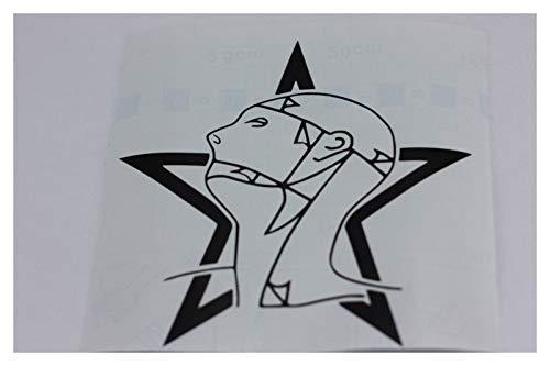Aufkleber Sisters of Mercy Head & Star Grey's Anatomy schwarz glänzend 10x10 cm