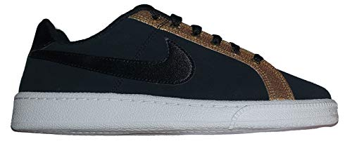 Nike Court Royale Premium, Zapatillas de Tenis para Mujer, Multicolor (Black/Black/Metallic Gold/White 006), 37.5 EU