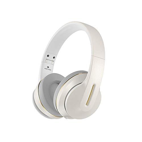 AMELIA Auriculares inalámbricos con micrófono Dual, Tiempo de conversación de 22 Horas con micrófono de cancelación de Ruido en Auriculares Bluetooth del oído con Modo inalámbrico,Blanco