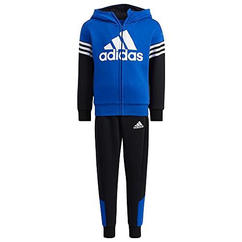 adidas LK BOS FL Set Tracksuit, Bold Blue/Black, 7-8A Unisex-Child