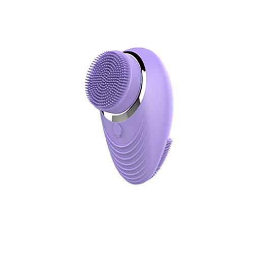 INOOY Instrumento de Limpieza Instrumento eléctrico multifunción para el Lavado de la Cara Limpiador de poro Hermoso Instrumento de Lavado Facial para el hogar,Purple