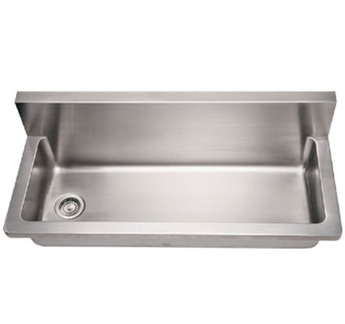 Whitehaus Collection WHNCMB4413 Noah's Collection Series Utility Sink, Brushed Stainless Steel