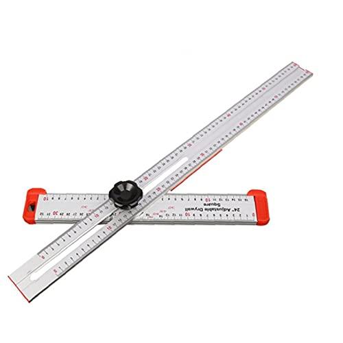 Herramienta de medición T Plaza de Regla de alta precisión de aleación de aluminio de tratar madera para la medición de carpintero