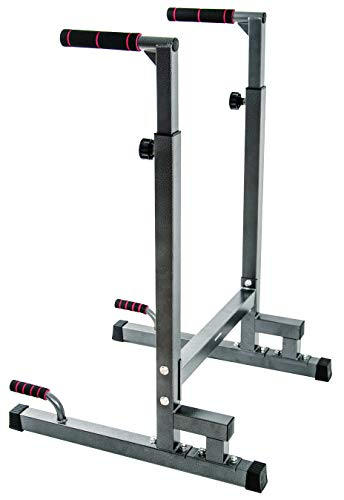 Product Image 3: BalanceFrom Multi-Function Dip Stand Dip Station Dip bar with Improved Structure Design, 500-Pound Capacity (Gray)