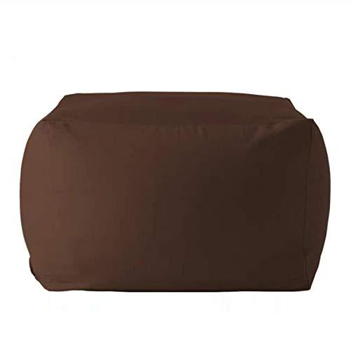 WSCQ Copridivano Pigro Creativo,Fodere da Divano in Lino Copri Bean Bag Pouf Sedia da Gaming Bean Bag Reclinabile Pouf Cover Senza Riempire,Coffee Color,55 * 55 * 38cm