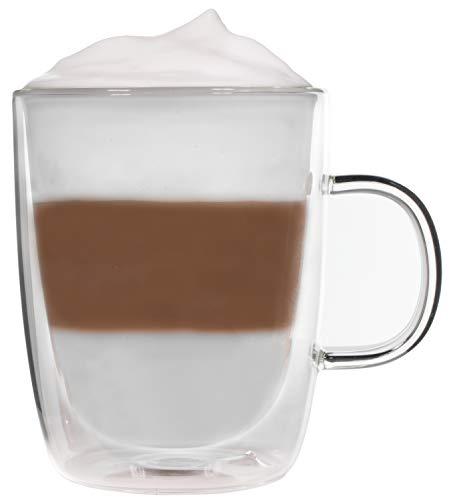 Snobby 360ml doppelwandige Tasse/Thermotasse/Glastasse/Teetasse/Kaffeetasse mit Schwebeeffekt by Feelino
