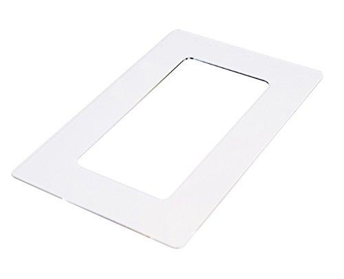 kekef Acrylglas Dekorrahmen klar 1fach 2fach 3fach 4fach, beidseitig benutzbar glänzend oder entspiegelt, Tapetenschutz Wandschutz für Lichtschalter und Steckdosen (antireflex 3x2-fach)