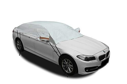 Kadooria Safe View Half Car Cover Top Waterproof/Windproof/Dustproof/Windshield Cover Snow Winter...