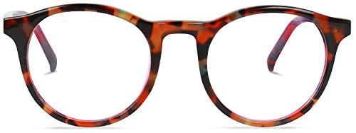 Brille ohne stärke   Ruben-FENFEN   Runde Brille mit Fensterglas aus Italienischen Acetat   Braun   Charlie Temple