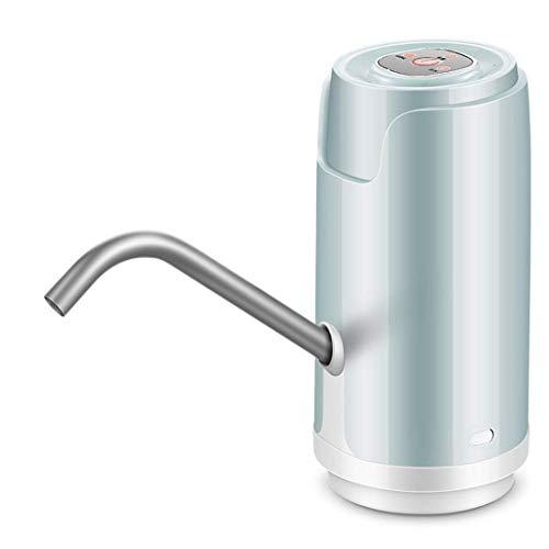 USB oplaadbare waterpomp verwijderbare universele fles water pompje anti-drip, sterk aanpassingsvermogen, handmatige kamperen, school, kantoor (blauw) hsvbkwm (Color : Blue)