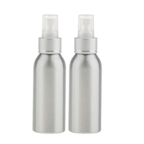 Gazechimp 2x Vaporisateur à Brouillard en Aluminium Réutilisable Atomiseur Spray Bouteille Vide à Lotion Parfum - 40ml / 50ml / 100ml / 120ml - 120ml