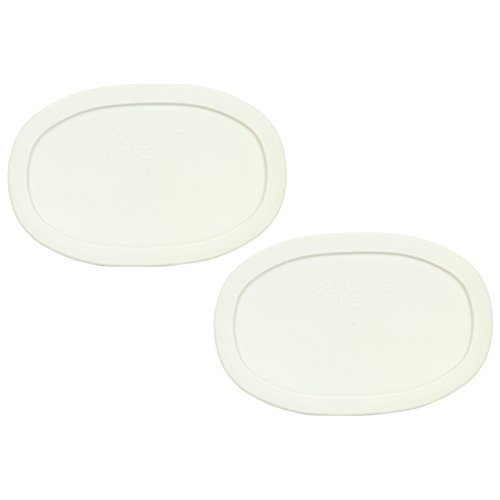 Corningware F-15-PC Oval French White 15-ounce Plastic Lid (2 Pack)