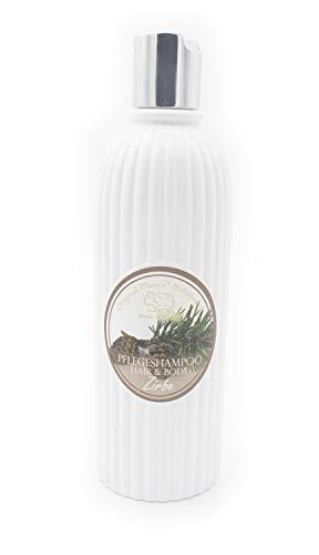 Florex Zirben Pflegeshampoo Haar & Körper mit Bio Schafmilch 330ml ohne Parabene, ohne Silikone & ohne Erdöl hergestellt in Österreich aus hochwertigen Zirbenöl, für eine intensive Haarpflege