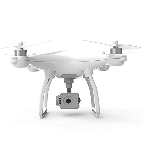 LYHLYH GPS Drone avec caméra, 4K 5G WiFi Drone émission pour Adultes débutants Retour Automatique Suivez Le Mode Orbit Me Altitude Tenir,Blanc