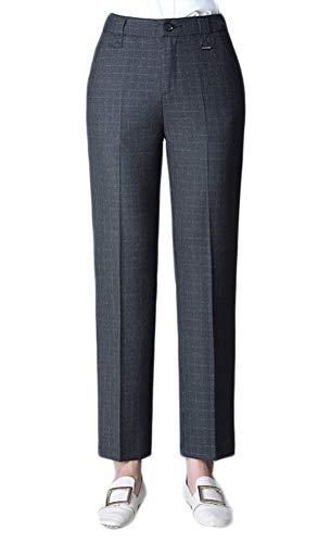 XZYP Damen Anzugshose Herbst neun Punkte Arbeitshose dick professionelles Kleid 3XL Dunkelgrau