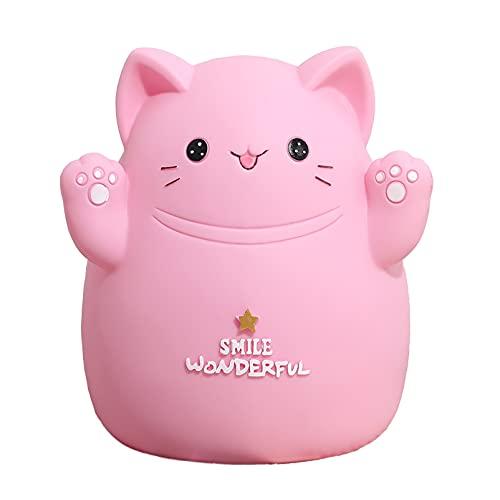 Sparschwein, Sie können Geld sparen und Geld abheben, niedliche katzenförmige Sparbüchse, verwendet, um Münzen und Bargeld zu sparen, Dekoration, als Geschenk.