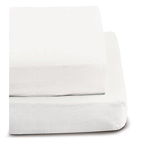 Irisette 0006_10_148747 Merkur, Biber-Spannbetttuch, 100 x 200 cm, weiß