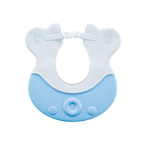 Bébé Shampooing Cap Étanche Protecteur Oreille Enfants Baignoire Bébé Infantile Bonnet De Douche Enfant Réglable (Couleur : Bleu)