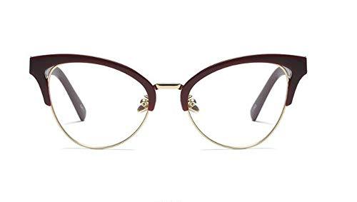 Huateng HT Fashion medio marco plano espejo gafas de sol de gran personalidad gafas de sol vanguardistas gafas con marco (luz anti-azul)