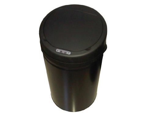 Selekta 0540-509 Poubelle Sensor Ronde 42 Noir Mat