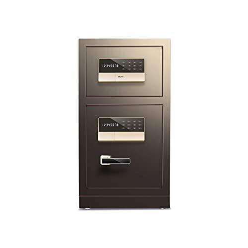 DSWHM Security Lock Boxes, Digital Safe - 43X38X80Cm Large Electronic Steel Safe with Keypad,2 Manual Override Keys-Protect Money, Jewelry,Passports-for Home,Business or Travel
