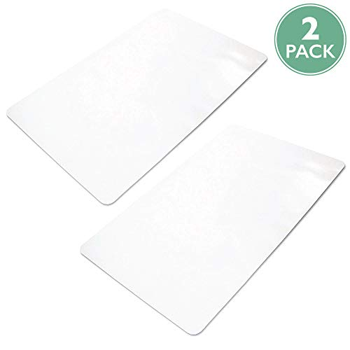 Ilyapa Office Chair Mat for Hard Floors 2 Pack 36' x 48' Heavy Duty Clear, PVC Chair Mat for Hardwood and Tile Floors, Protective Floor Mat for Home or Office